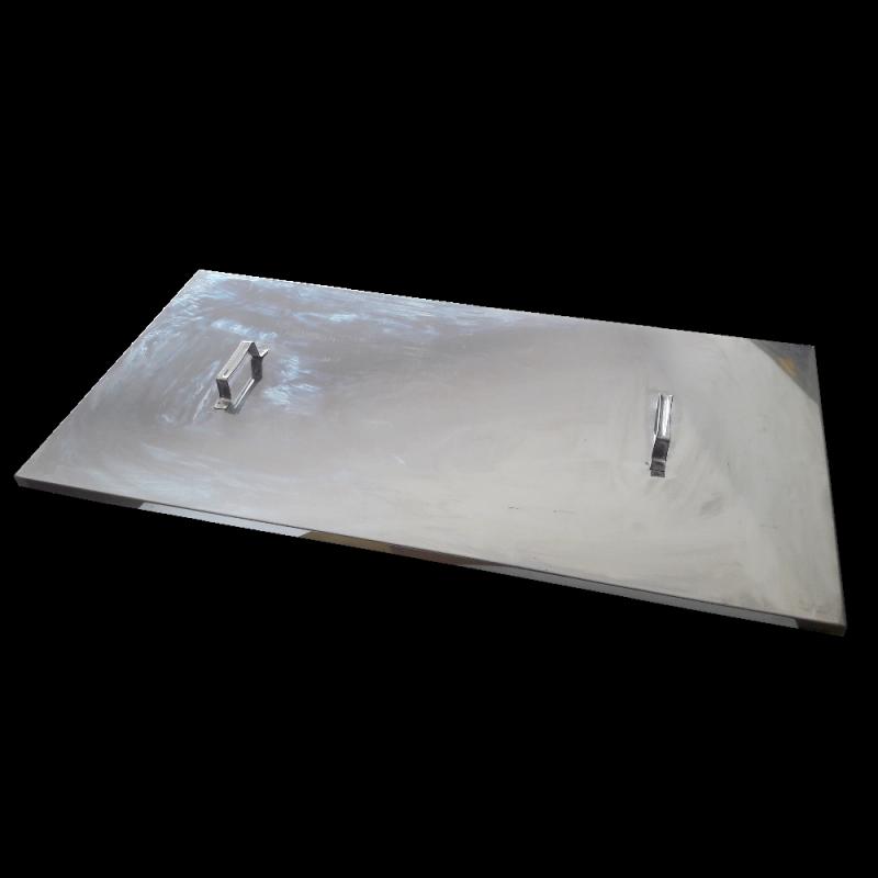 Nierdzewna pokrywa do stołu ABB (1m)
