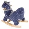 Pluszowy bujak na biegunach - żyrafa konik z siedziskiem