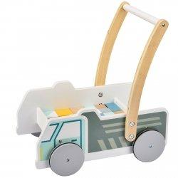 Marcel - drewniany wózek samochodzik chodzik pchacz