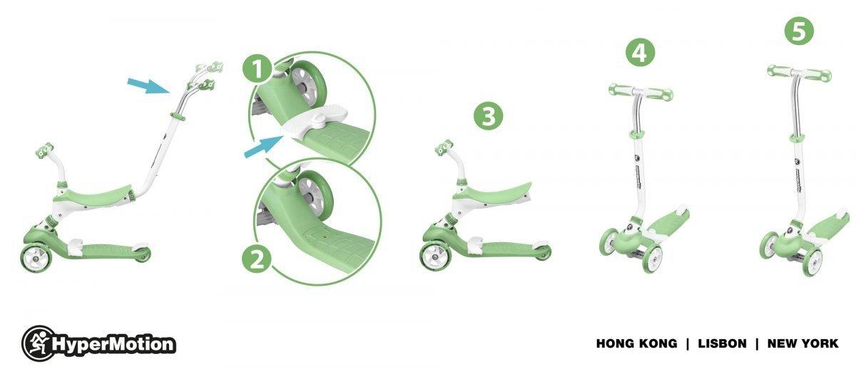 Hulajnoga 5in1 HyperMotion - zielona