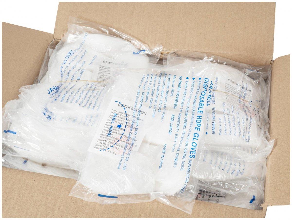 Foliowe rękawiczki jednorazowe HDPE 10μm grube - 10000 sztuk