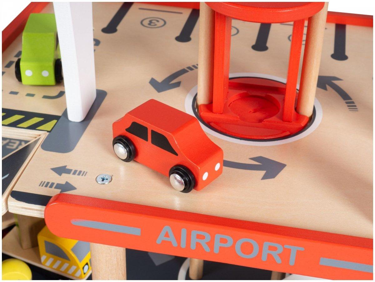 Odlot - lotnisko z parkingiem piętrowym, garaż