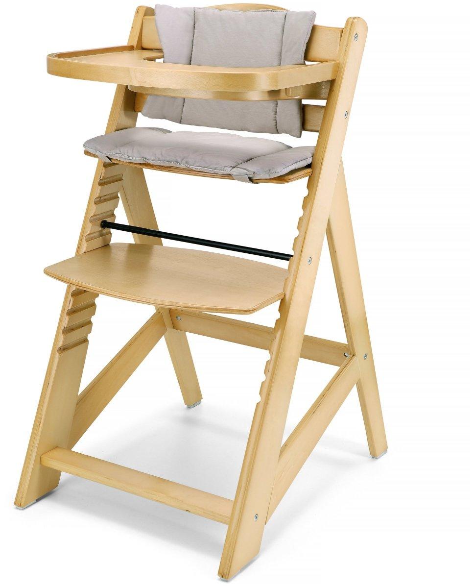 Krzesło do karmienia drewniane Moby -System WOODY - kolor naturalne drewno olchowe