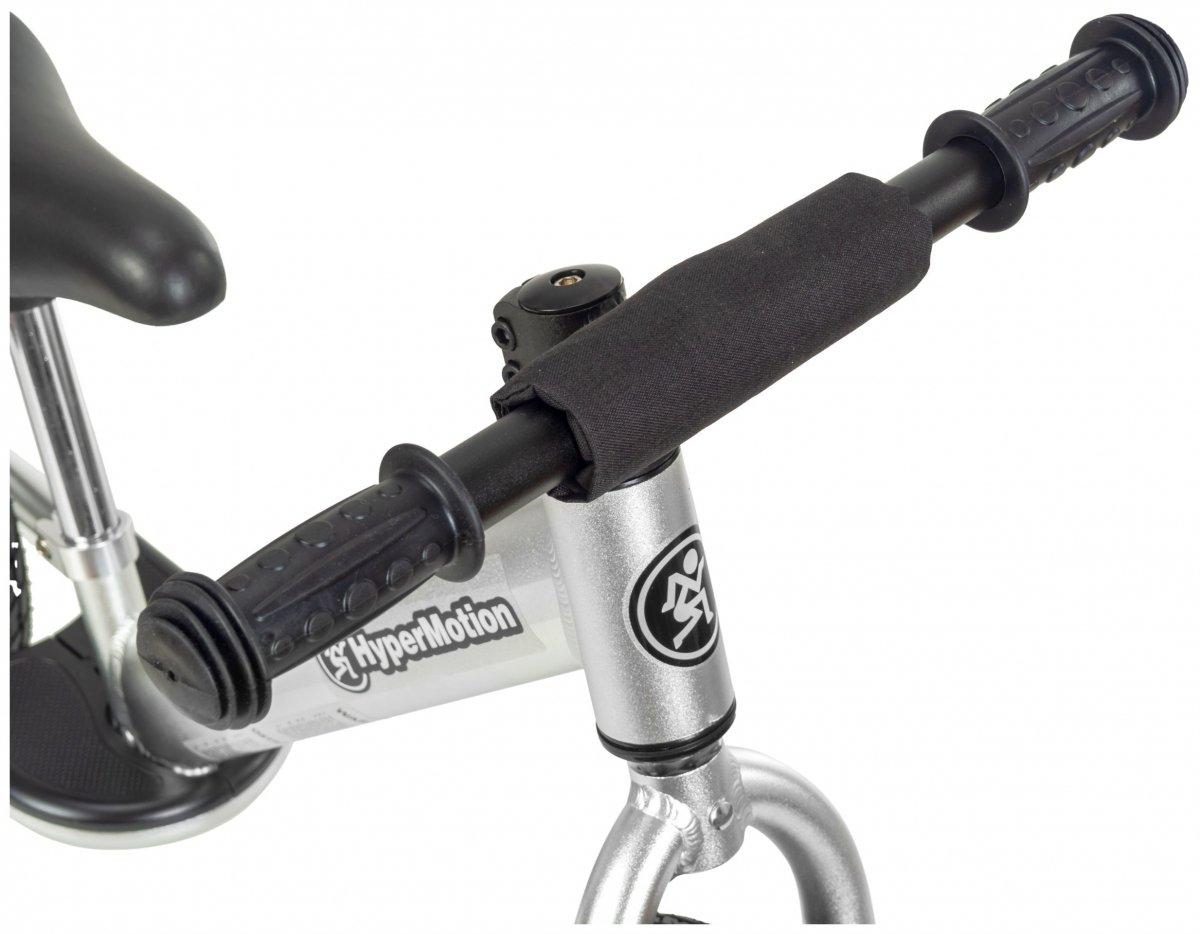 Rowerek biegowy ALU HyperMotion COVAGGIO - pompowane koła , aluminiowa rama - srebrny