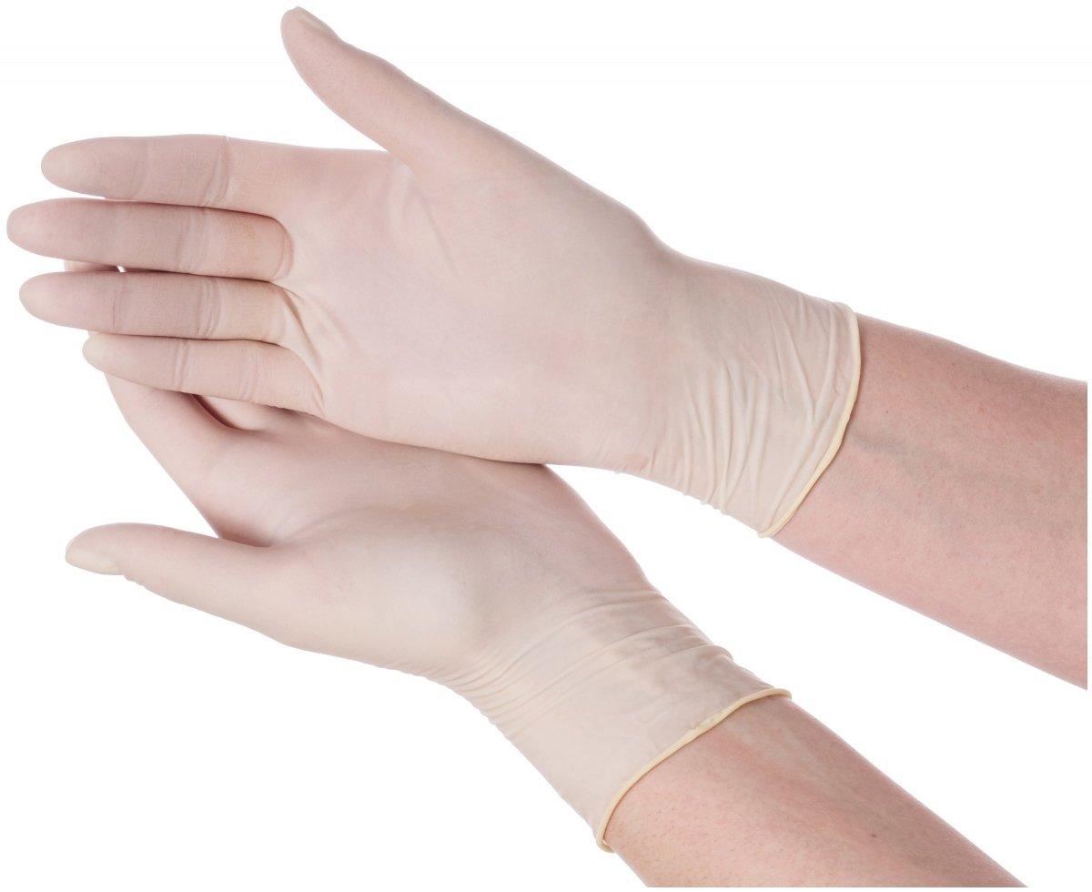 Rękawice lateksowe medyczne - bezpudrowe - 100 sztuk - rozmiar L
