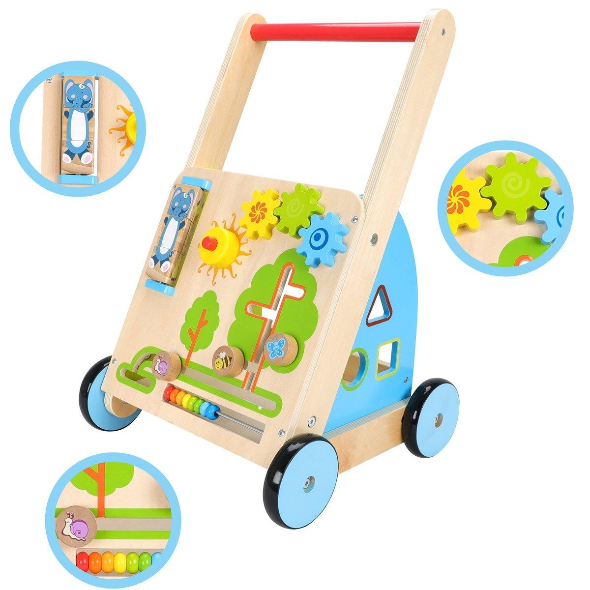 Tuptuś - drewniany wózek chodzik pchacz