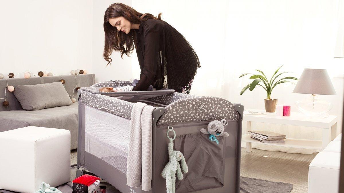 Łóżeczko turystyczne przenośne Happy Traveller BASIC PLUS - beżowe