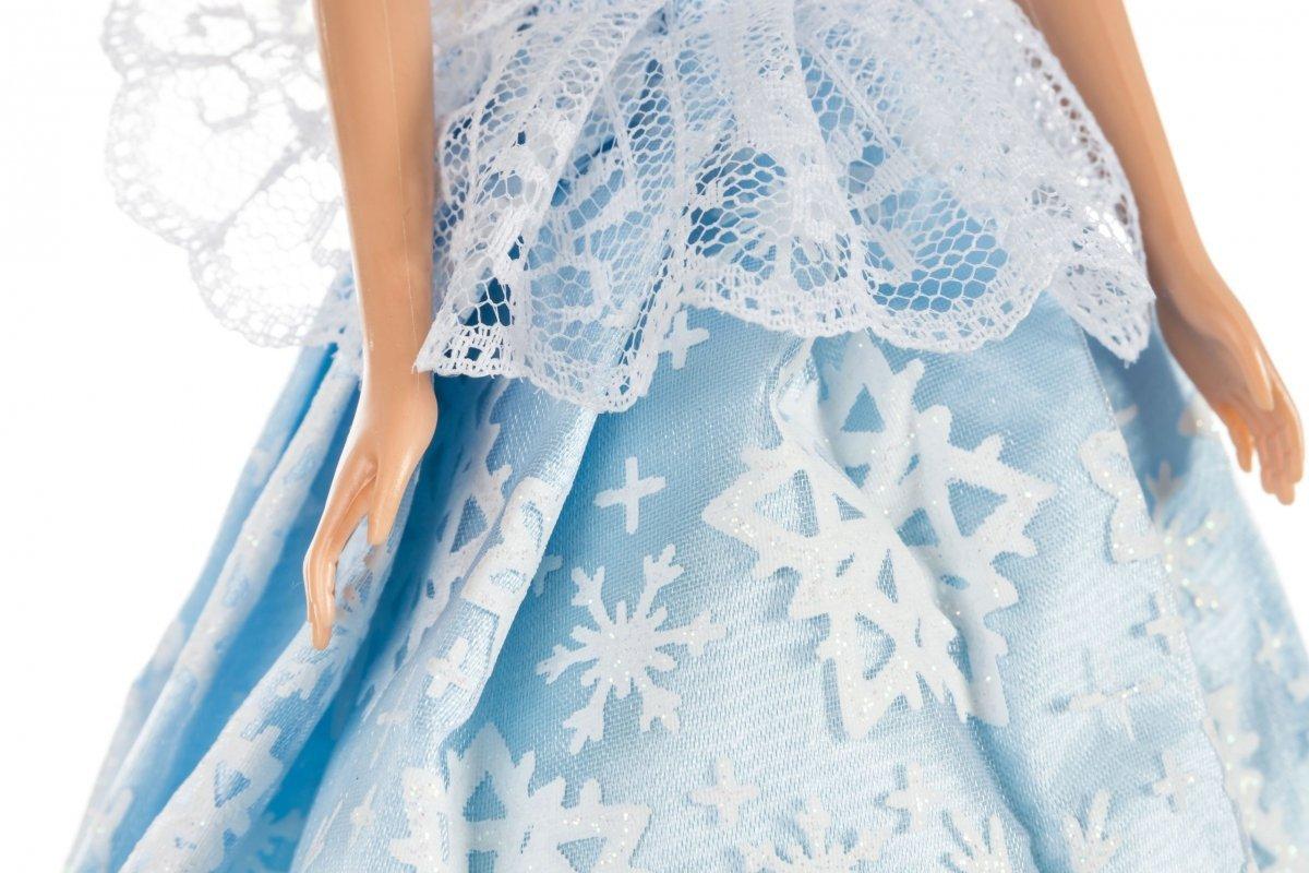 Lalka Anlily - Zimowa Księżniczka - suknia w płatki śniegu