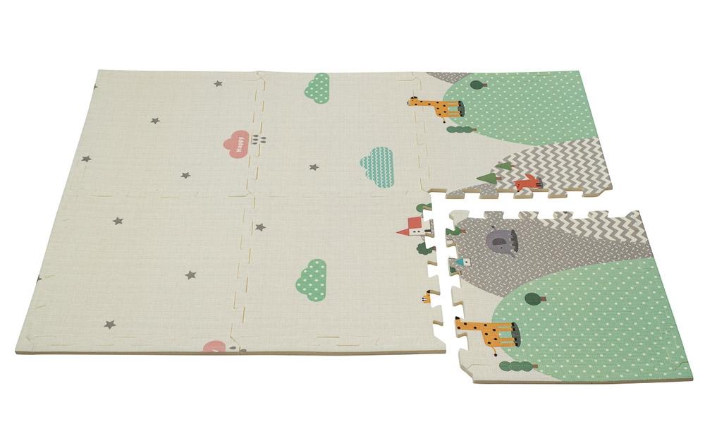 Dwustronna Mata Puzzle 180 x 120 x 2 cm R11 - Wzorzyste wzgórza i Szara kraina