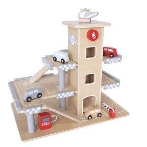 Drewniany Garaż - Parking Odkrywcy - winda, autka, helikopter