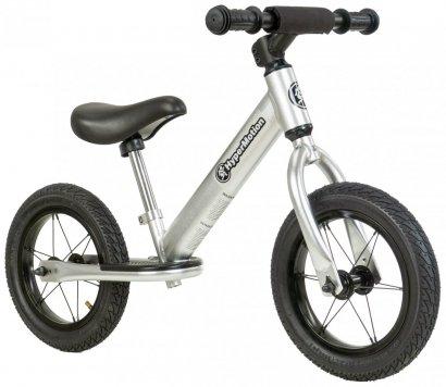 Rowerek biegowy HyperMotion COVAGGIO - pompowane koła - srebrny