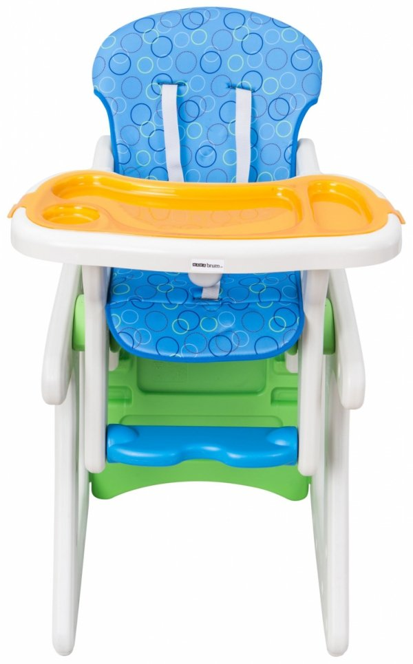 Krzesełko do karmienia JOVI MAMABRUM stolik plus fotelik kolor niebieski