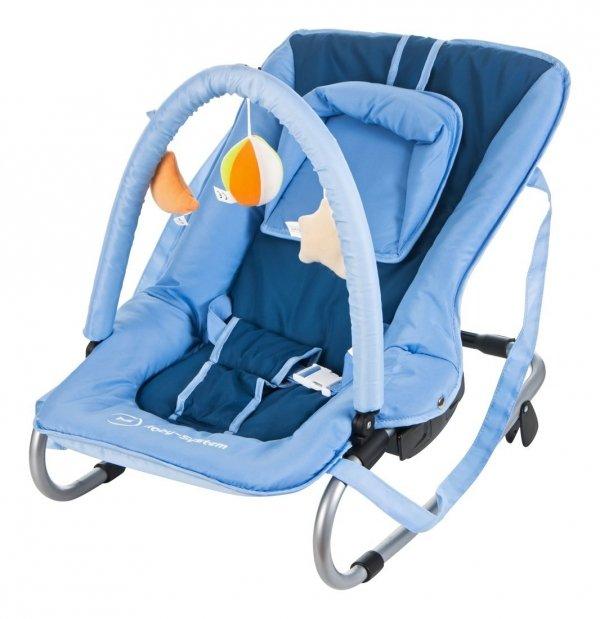 Leżaczek + bujaczek 2w1 - JASMINE - niebieski