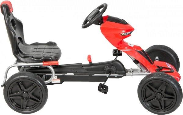 Gokart na pedały - jeździk dla dzieci 5-12 lat - czerwony