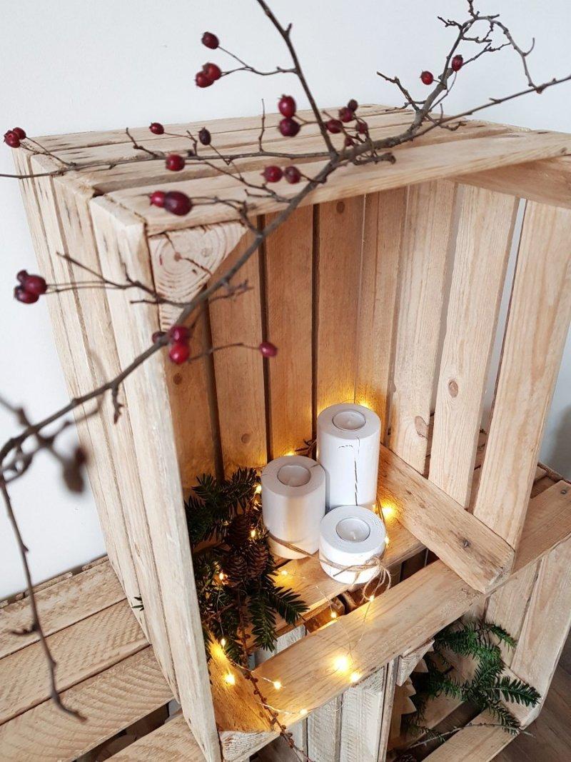 Zestaw 3 drewnianych świeczników biały