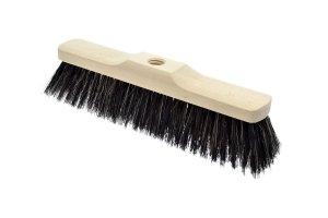 Szczotka do zamiatania drewniana - włosie mieszane 40cm