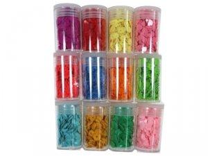 4471 Cekiny łamane konfetti 5 mm pojemniczek kpl 12 szt