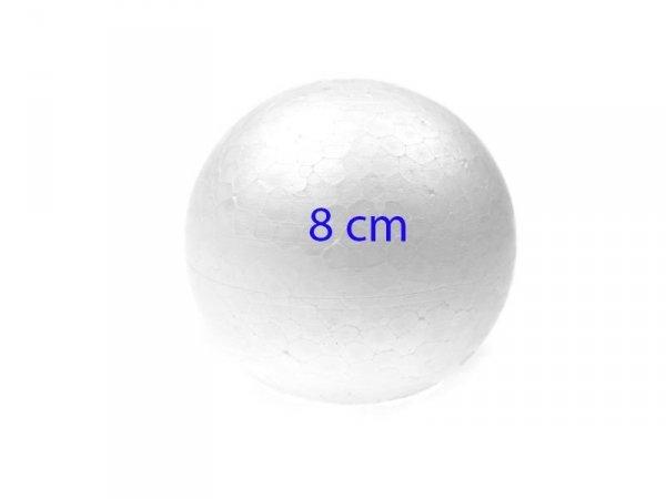 KULA STYROPIANOWA KULA BOMBKA BOMBKI 8 cm