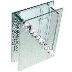 0248 Wazon szklany z kryształkami
