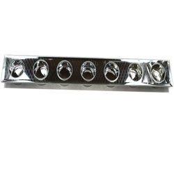 0216 Świecznik szklany lustrzany na 7 tealight