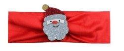 1 kIDS opaska na głowę czerwona z Mikołajem