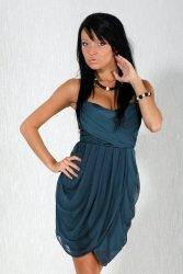 1102-4 Sukienka zawiązywana na szyi