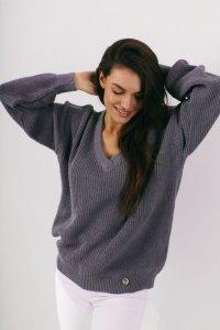 Sweter LS328 cool grey