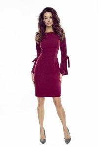 sukienka z brokatowymi rękawami M75179_1