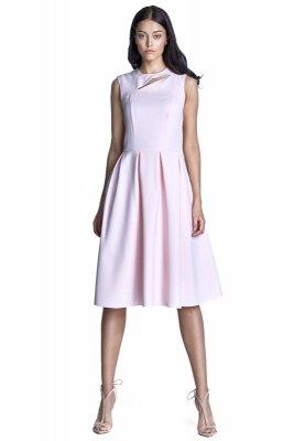 Sukienka midi - róż - S73