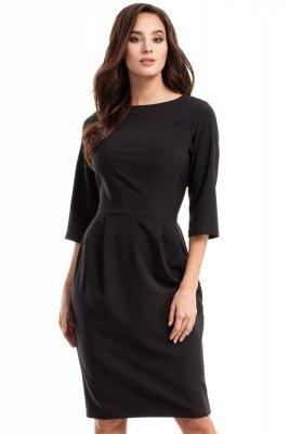MOE277 sukienka czarna