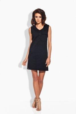L122 sukienka safari czarny