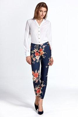 Spodnie csd04 - kwiaty/granat - CSD04