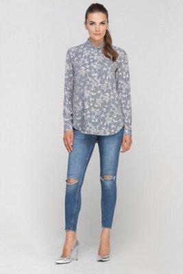 Przedłużona bluzka w stylu koszulowym
