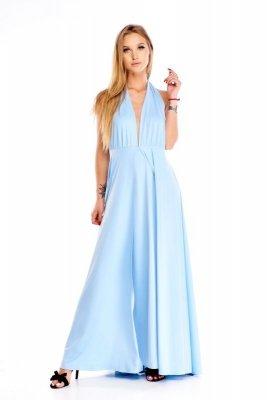 Zjawiskowa sukienka z odkrytymi plecami