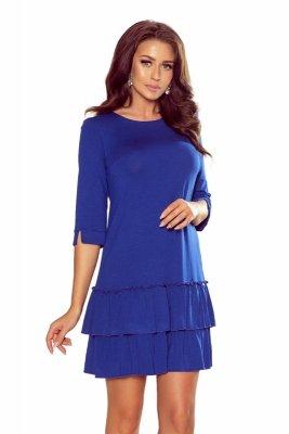 Pudełkowa sukienka z podwójną falbaną M70135_1