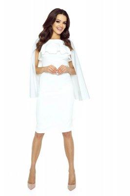 Ołówkowa sukienka z pelerynką