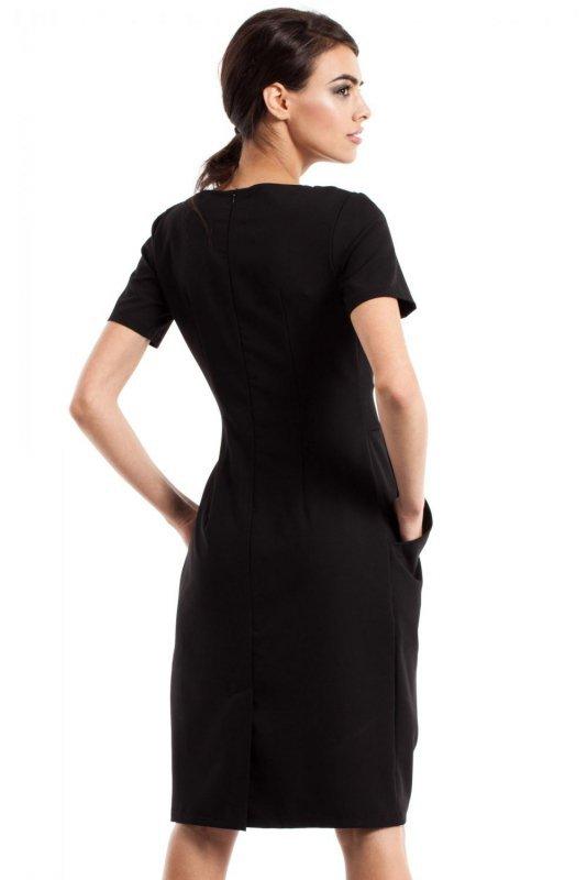 MOE234 Sukienka czarna