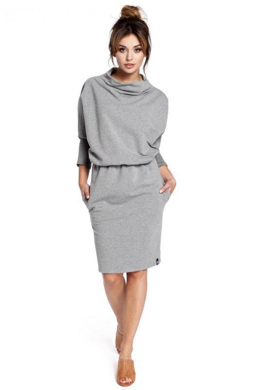 B032 sukienka szara