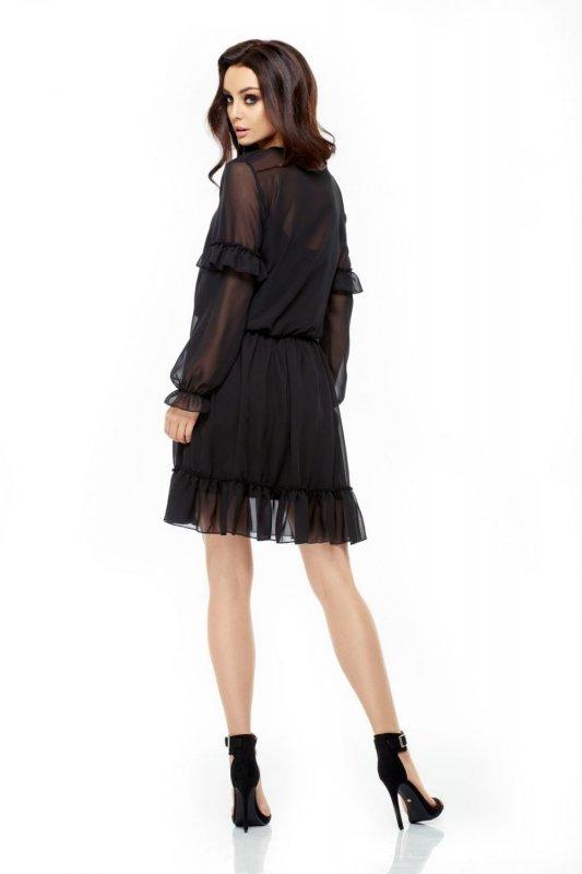 L240 Zwiewna sukienka czarny