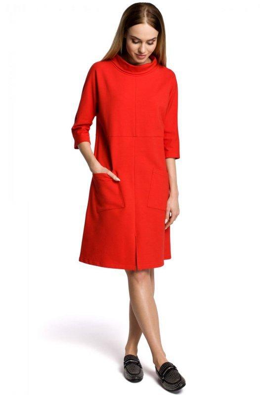 M353 Sukienka czerwona