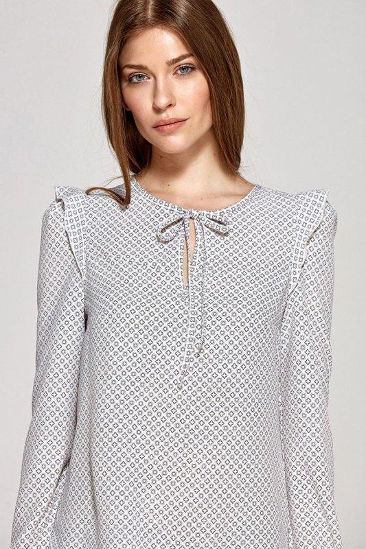 Bluzka z wiązaną łezką na dekolcie - kafelki - CB09