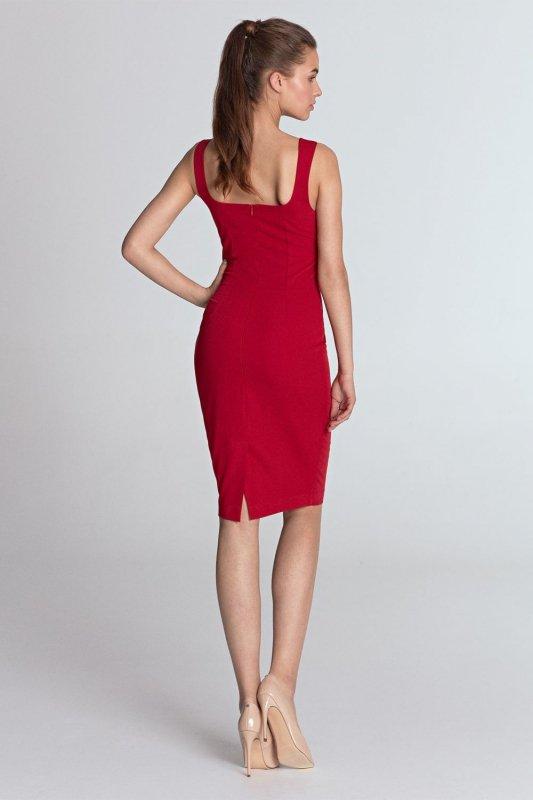 b4302f3445 Sukienka z dekoltem w kształcie serca - czerwony - S113 - Sukienki ...