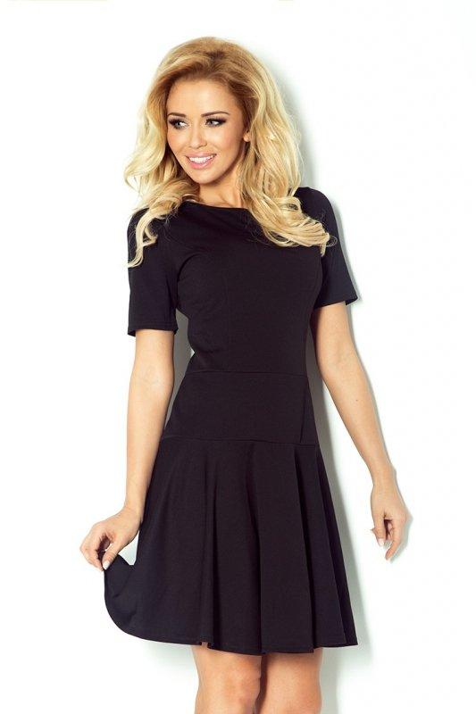 76-1 Tenisowa sukienka z krótkim rękawkiem - czarna lacosta