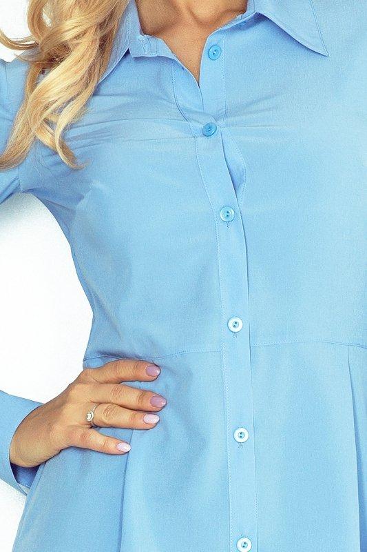 MM 016-2 Koszula z baskinką - BŁĘKITNA