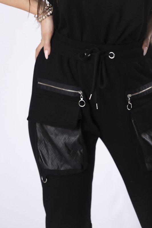 dresowe spodnie z kieszeniami