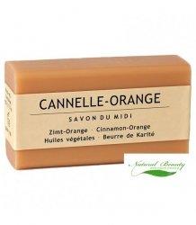 SAVON DU MIDI Prowansalskie mydło z masłem karite CANELLE-ORANGE / cynamon i pomarańcza