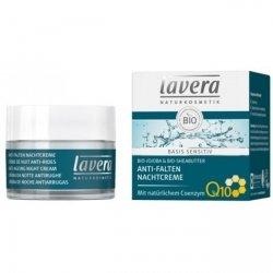 Lavera BASIS SENSITIV Przeciwzmarszczkowy krem na noc z bio-jojobą, bio-masłem shea i koenzymem Q10