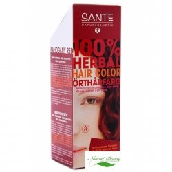 Sante Naturkosmetik Roślinna farba do włosów w proszku  mahoniowa czerwień