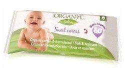Organyc Chusteczki nawilżane z bio-bawełny dla niemowląt 60 szt.