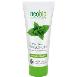 Neobio Żel do mycia twarzy z bio-miętą i solą morską